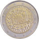 Commemorative Euro coin visual: Belgium 2015, 30th anniversary of the Flag of Europe