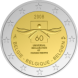 Commemorative Euro coin visual: Belgium 2008, 60th Anniversary of the Universal Declaration of Human Rights