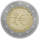 Commemorative Euro coin visual: Belgium 2009, Ten years of Economic and Monetary Union (EMU) and the birth of the euro