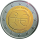 Commemorative Euro coin visual: Cyprus 2009, Ten years of Economic and Monetary Union (EMU) and the birth of the euro