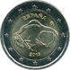 Commemorative Euro coin visual: Spain 2015, Cave of Altamira and Paleolithic Cave Art of Northern Spain - Sixth of the UNESCO World Heritage Sites series