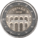 Commemorative Euro coin visual: Spain 2016, Old city of Segovia and its aqueduct - Seventh of the UNESCO World Heritage Sites series
