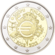 Commemorative Euro coin visual: Finland 2012, 10th Anniversary of Euro coins and banknotes