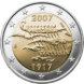Commemorative Euro coin visual: Finland 2007, 90th Anniversary of Finland's Independence