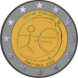Commemorative Euro coin visual: Finland 2009, Ten years of Economic and Monetary Union (EMU) and the birth of the euro