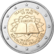 Commemorative Euro coin visual: France 2007, 50th Anniversary of the Signature of the Treaty of Rome