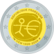 Commemorative Euro coin visual: France 2009, Ten years of Economic and Monetary Union (EMU) and the birth of the euro