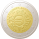 Commemorative Euro coin visual: Greece 2012, 10th Anniversary of Euro coins and banknotes