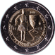 Commemorative Euro coin visual: Greece 2015, 75 years since the death of Spyridon Louis