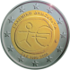Commemorative Euro coin visual: Greece 2009, Ten years of Economic and Monetary Union (EMU) and the birth of the euro