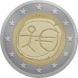 Commemorative Euro coin visual: Irland 2009, Ten years of Economic and Monetary Union (EMU) and the birth of the euro